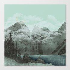 The Mountain Lake (Green) Canvas Print
