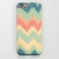 iPhone & iPod Case featuring IKAT CHEVRON - II by Nika