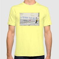 Feminism fights back Mens Fitted Tee Lemon SMALL