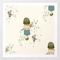 A Walk, Pattern Art Print
