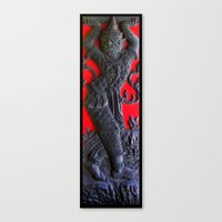 Thai Wood Carving A Canvas Print