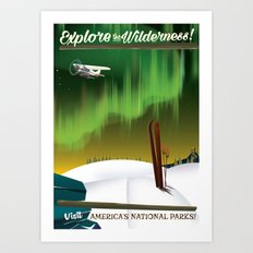 Explore the Wilderness Art Print