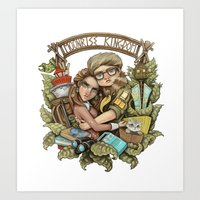 moonrise kingdom Art Prints featuring Moonrise Kingdom by Sandy Vazan