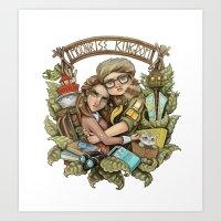 moonrise kingdom Art Prints featuring Moonrise Kingdom by Sandy Vazan