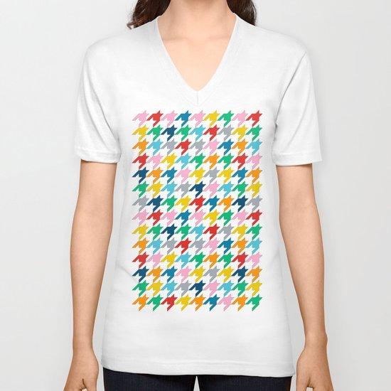Puppytooth V-neck T-shirt