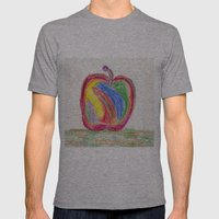 Rainbow Mens Fitted Tee Athletic Grey SMALL
