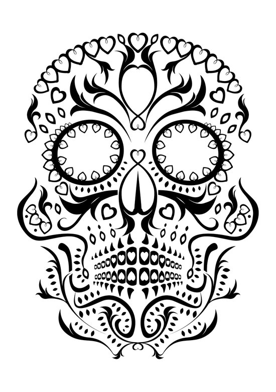 Day of the Dead Skull No.26 Art Print
