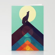 Howling Wild Wolf Stationery Cards