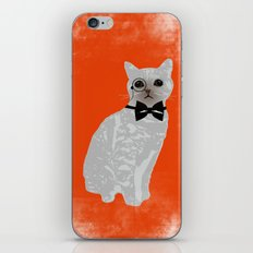 Wise cat with bow and tie iPhone & iPod Skin