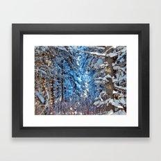 Deep Into The Gap Framed Art Print