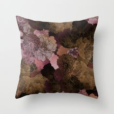 FLORAL PINKS Throw Pillow