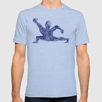 2012 - b Mens Fitted Tee Athletic Blue SMALL