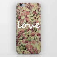 FLORAL LOVE iPhone & iPod Skin