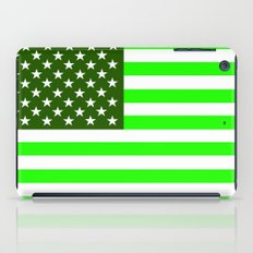 united states america green flag ecology iPad Case