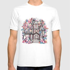 Trick or Treat SMALL Mens Fitted Tee White