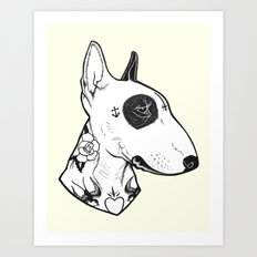 Bull Terrier Dog Tattooe… Art Print