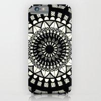Black On Cream Mandala iPhone 6 Slim Case