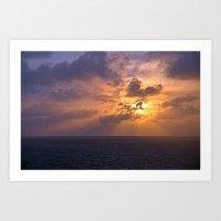 Sunrise At Sea Art Print