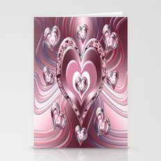 River Flowing Hearts Stationery Cards