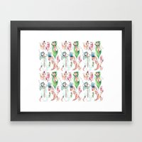 Pixie Pattern Framed Art Print
