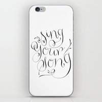 Sing Your Song iPhone & iPod Skin