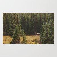 Rocky Mountain Creek Elk Rug