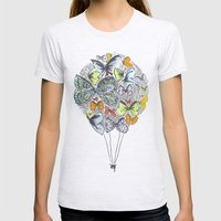 Bows & Butterflies Womens Fitted Tee Ash Grey SMALL