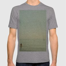 Pontoon Mens Fitted Tee Athletic Grey SMALL