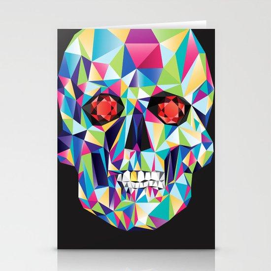 Geometric Candy Skull Stationery Card
