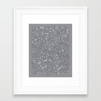City Grid Night Print Framed Art Print