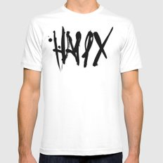 Happy White SMALL Mens Fitted Tee