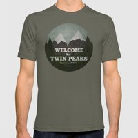 Welcome to Twin Peaks Mens Fitted Tee Lieutenant SMALL