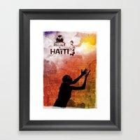 Relief in Haiti Framed Art Print