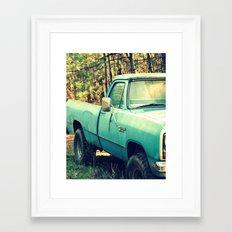 Ole' Blue Framed Art Print