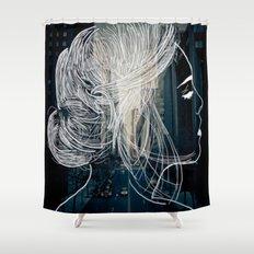 The woman who never sleep Shower Curtain