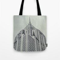 Vintage Chrysler Cuildin… Tote Bag