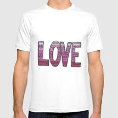 Love Design SMALL White Mens Fitted Tee