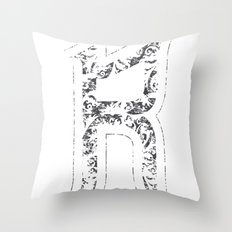 R - is for Rare - white version Throw Pillow