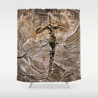 Archaic Flying Cross  Shower Curtain