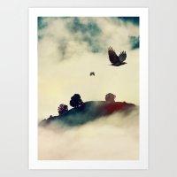 Send a raven Art Print