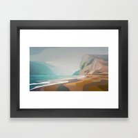 Cliffs - Misty Framed Art Print