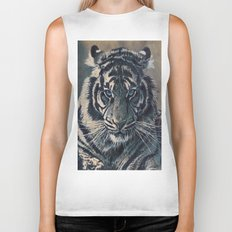 Tiger Eyes - by Julio Lucas  Biker Tank