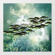 Fish Shoal Canvas Print