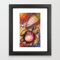 Basking Baby Sea Shell T… Framed Art Print