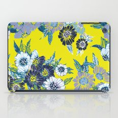 Floral pattern in Neon yellow iPad Case