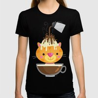 Affogato Womens Fitted Tee Black SMALL