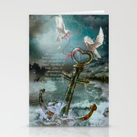Red String of Fate / Red Thread of Destiny / Soulmate (with quote) Stationery Cards