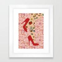 Red Walk Framed Art Print