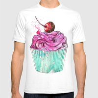 Creative Cupcake... Mens Fitted Tee White SMALL