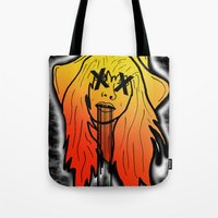Random Girl Tote Bag